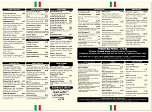 Our Menus Borrello Restaurant